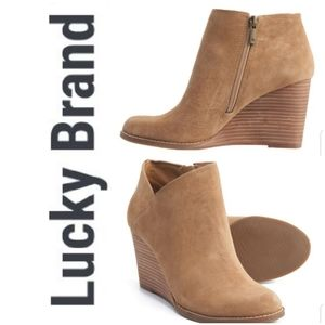 🆕️ LUCKY BRAND Yakeena Wedge Ankle Booties!